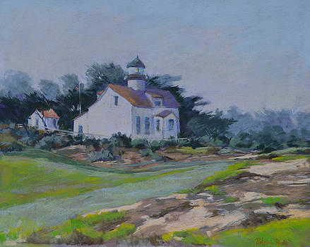 Lighthouse Morning Fog by Patricia Rose Ford