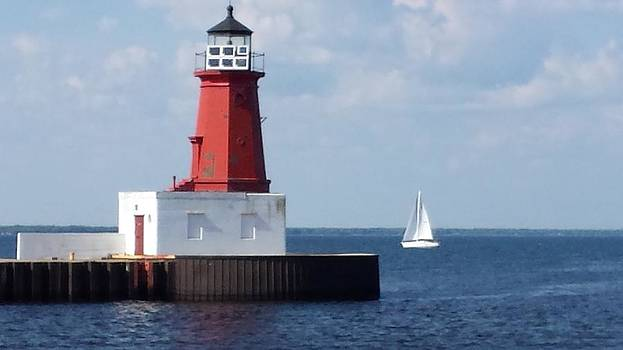 Lighthouse on The Bay by Erin Britton