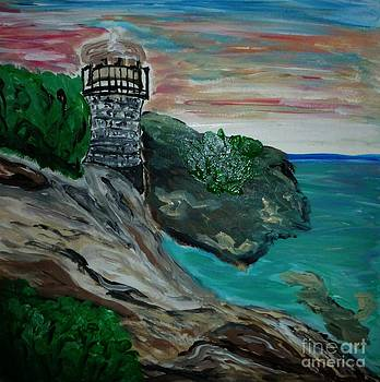 Lighthouse on the Coast by Marie Bulger