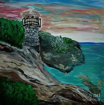 Lighthouse on the Coast by Marie Bulger