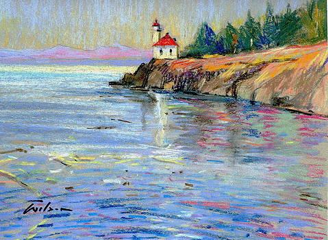 Lighthouse San Juan Island by Ron Wilson