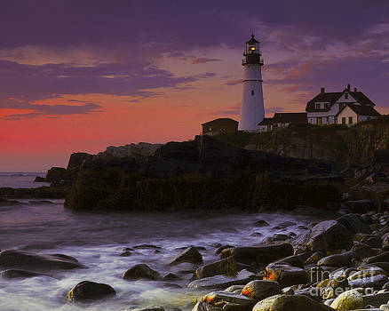 Lighthouse Sunrise by John Remy
