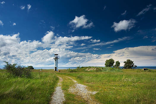 Lighthouse with beautiful sky by Anna Grigorjeva