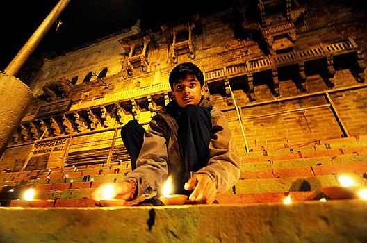 Lighting the lamp by Money Sharma