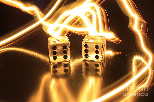 Lightning Dice 1 by Teresa Thomas