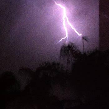 Lightning From My Backyard! by Rick  Annette