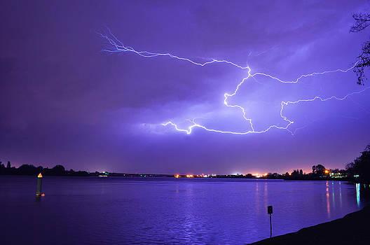 Lightning on the River by James Davis