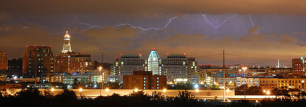 Lightning Over Alexandria by Michael Donahue