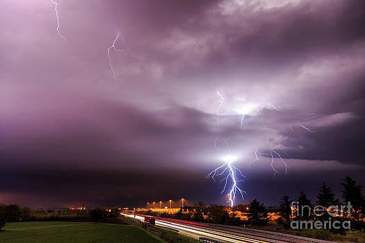Lightning storm by Marko Korosec