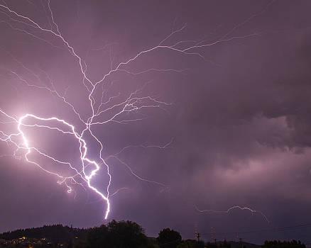 Lightning strike by Rick Colby