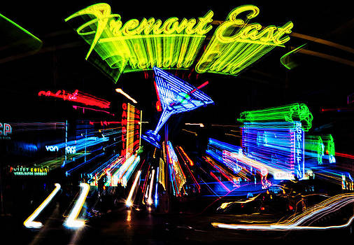Lights of Fremont Street by Arnold Despi