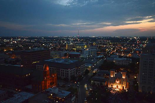 Lights of San Antonio TX  by Shawn Marlow