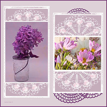 Sandra Foster - Lilacs And Cosmos Photo Picture Collage