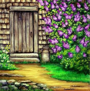 Lilacs By The Barn by Sandra Estes