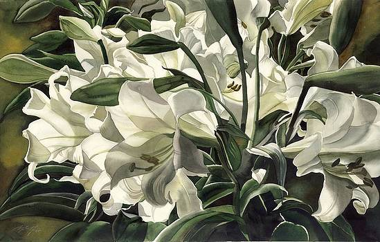 Alfred Ng - lilies at night
