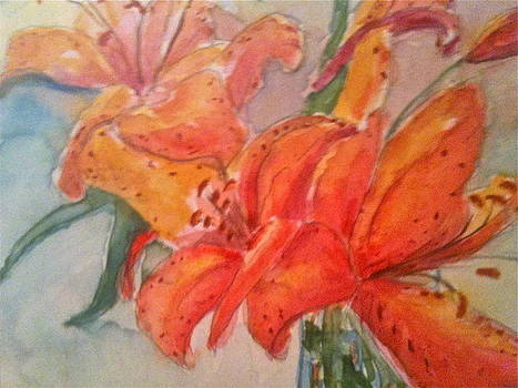 Lilies Exploding by Linda L Stinson