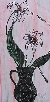 Lilies in a Vase I by Paula Peltier