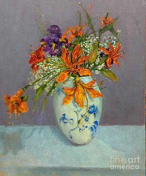 Lilies in Delft by Kathleen Hoekstra