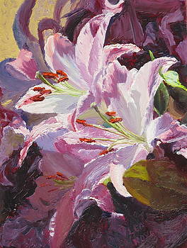 Lea Novak - Lilies in Sun and Shadow