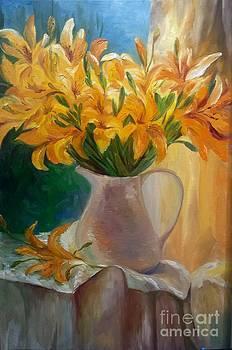 Lilies  by Irene Pomirchy