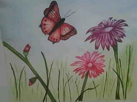 Lillies painting by Valorie Cross