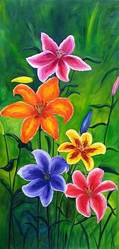 Lily Garden by Vikki Angel