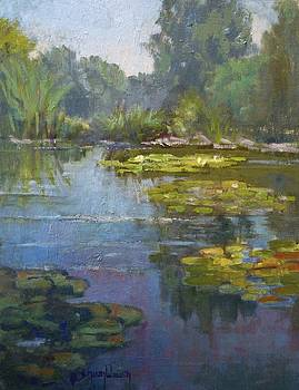 Lily Pond by Sharon Weaver