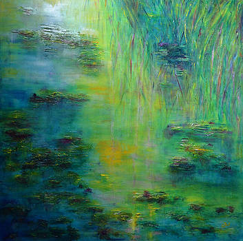 Claire Bull - Lily Pond Tribute to Monet