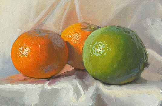 Lime and clementines by Peter Orrock