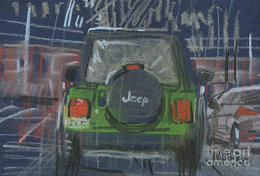 Lime Jeep by Donald Maier