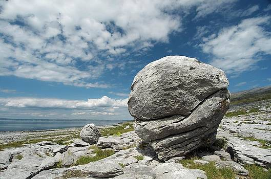 Limestone Boulder At The Burren by Sinclair Stammers