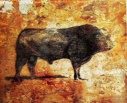 French Limousine Bull 10 by Larry Campbell