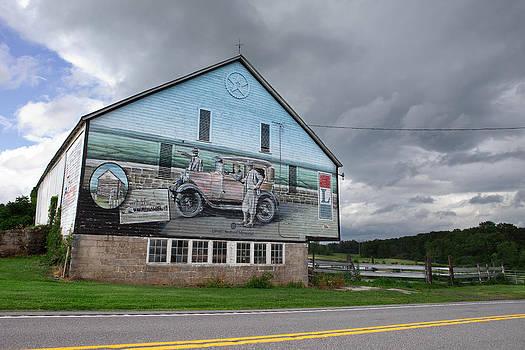 Lincoln Highway Barn Mural by Mark Van Scyoc