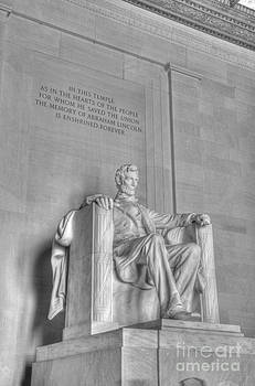 Lincoln Memorial 2 Black and White by Jonathan Harper