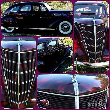 Gail Matthews - Lincoln Zephyr V-12 1937 4 door collage