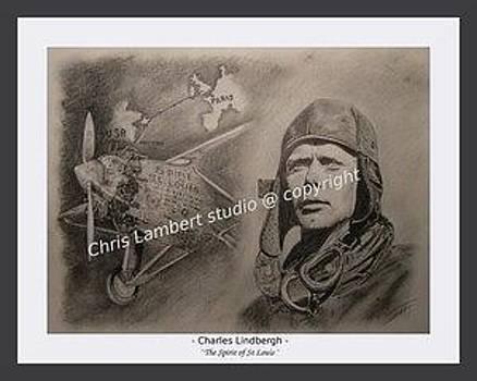 Lindbergh And Spirit Of St Louis by Chris Lambert