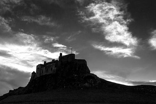 Lindisfarne Castle bw by Andy Stuart