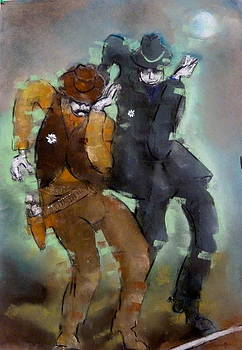 Line Dancing Sheriffs by Peter Cameron
