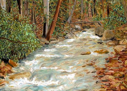 Linn Run painting Pennsylvania by David Olson