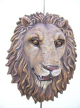Lion Head life-size wall Sculpture by Chris Dixon