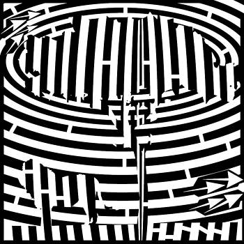 Lion In The Shade Maze by Yonatan Frimer Maze Artist