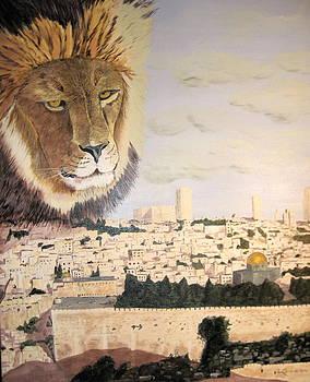 Lion over Jerusalem by Lloyd  Gardner