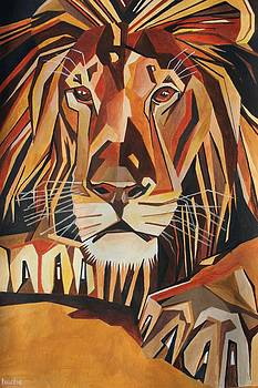 Tracey Harrington-Simpson - Lion  Portrait In Cubist Style