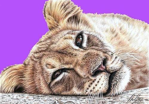 Lionchild Pink PopArt by Nicole Zeug