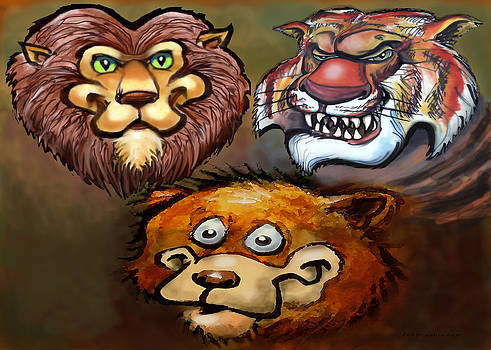 Lions and Tigers and Bears Oh My by Kevin Middleton