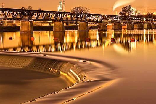 Liquid Gold - Former Tulsa Pedestrian Bridge  by Gregory Ballos