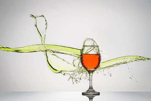 Liquid Splash Wine Glass by Andy Astbury