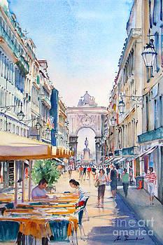 LISBOA - Rua Augusta by Antonio Bartolo