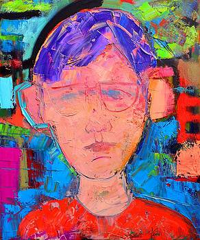 ANA MARIA EDULESCU - LISTENING - ABSTRACT EXPRESSIONIST PORTRAIT