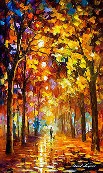 Listening To Silence - PALETTE KNIFE Oil Painting On Canvas By Leonid Afremov by Leonid Afremov